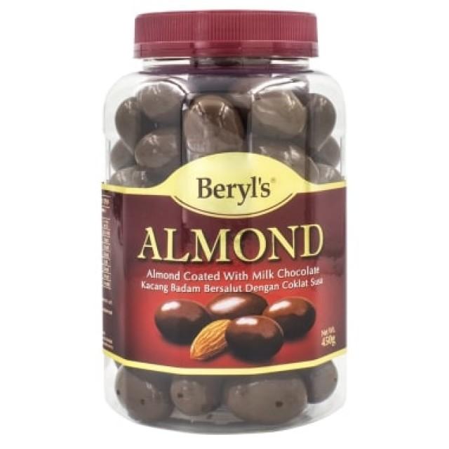 Beryl's Chocolate Hạnh nhân phủ socola sữa 450g