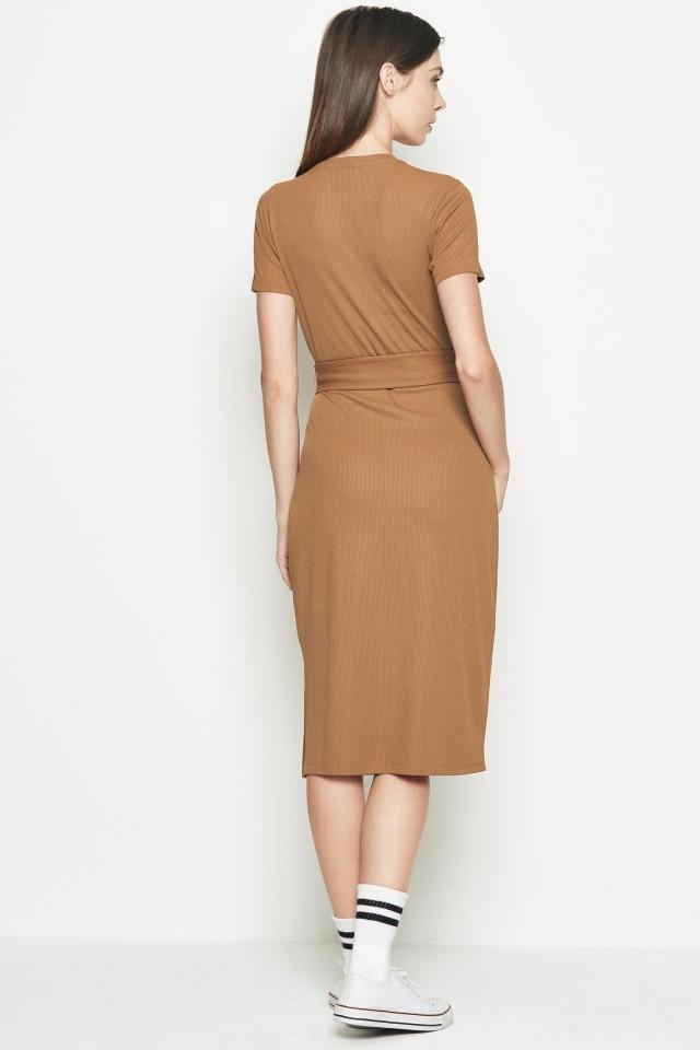 Đầm ôm dài Midi Padini Authentics Màu vàng nâu