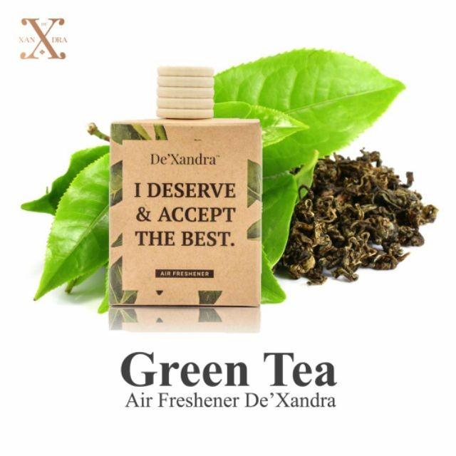 Tinh dầu treo xe ô tô DE'XANDRA - Hương trà xanh - MALAYSIA