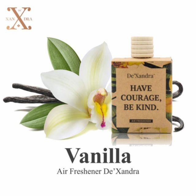Tinh dầu treo xe ô tô DE'XANDRA - Hương hoa Vanilla - MALAYSIA