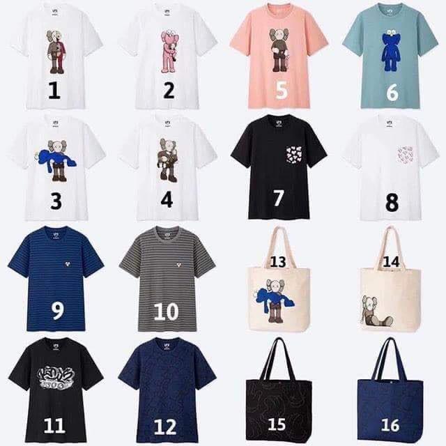 Áo thun T - Shirt nam Uniqlo x Kaws: Summer - HÀNG ORDER