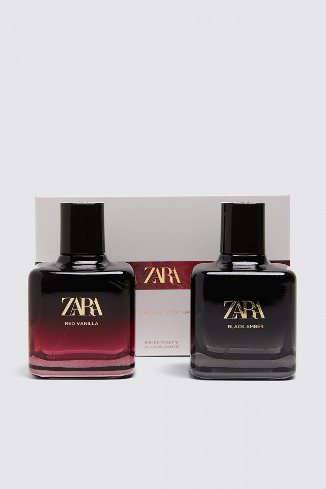 Nước hoa ZARA Set Red Vanilla 100ML Và Black Amber 100ML