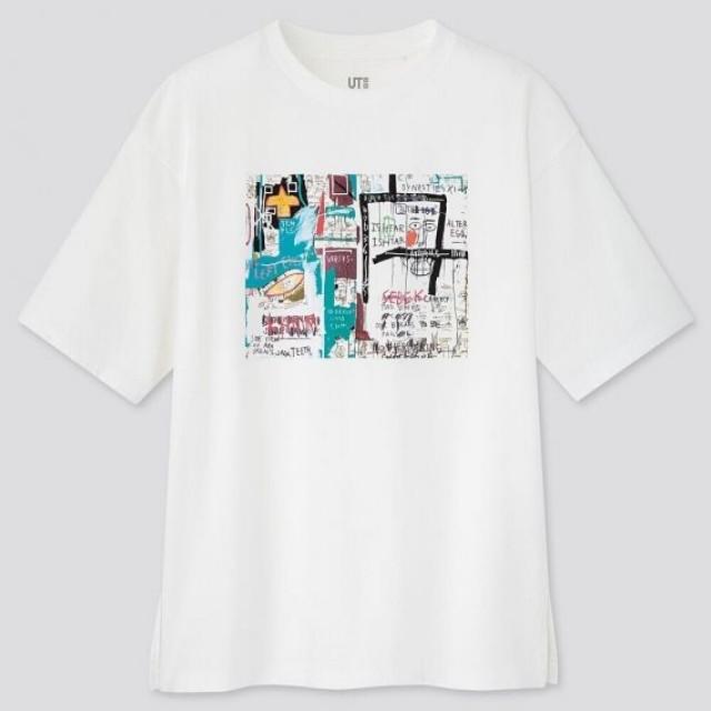 Áo thun nữ cổ tròn Uniqlo Crossing Lines UT Jean-Michel Basquiat