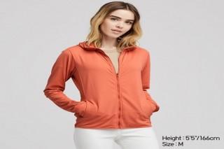 Áo chống nắng thun lạnh UNIQLO nữ - Màu cam