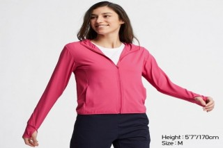 Áo chống nắng thun lạnh UNIQLO nữ - Màu hồng đậm