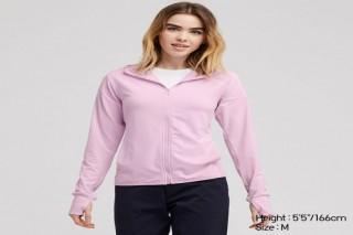 Áo chống nắng thun lạnh UNIQLO nữ - Màu hồng