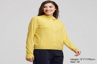 Áo chống nắng thun lạnh UNIQLO nữ - Màu vàng