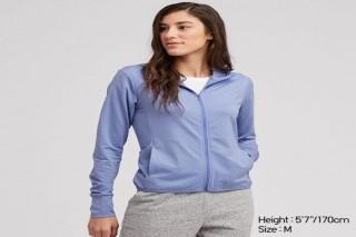 Áo chống nắng thun lạnh UNIQLO nữ - Màu xanh dương