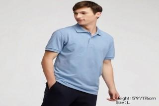 Áo thun polo UNIQLO nam - Màu xanh da trời