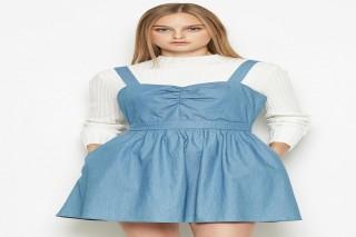 Đầm ngắn yếm xanh Padini đơn giản cá tính