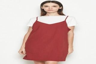Đầm ngắn màu đỏ nâu Padini nổi bật