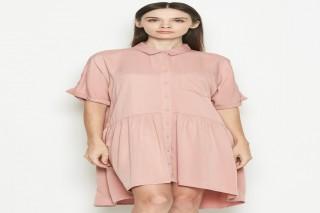 Đầm ngắn Padini màu hồng cá tính