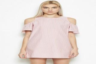 Đầm ngắn tay cách điệu Padini - màu hồng