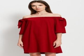 Đầm ngắn hở vai Padini màu đỏ