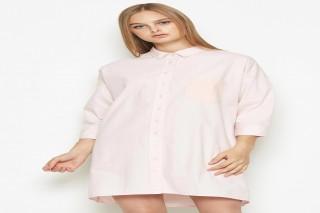 Đầm ngắn tay dài Padini màu hồng phấn