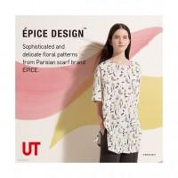 Áo nữ họa tiết cách điệu tay lửng Uniqlo EPICE DESIGN