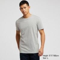 Áo thun T-shirt nam cổ tròn Uniqlo màu xám