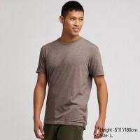 Áo thun T-shirt nam cổ tròn Uniqlo màu nâu