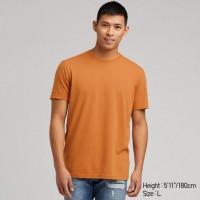 Áo thun T-shirt nam cổ tròn Uniqlo màu vàng