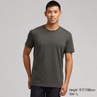 Áo thun T-shirt nam cổ tròn Uniqlo màu xanh lá đậm