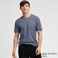 Áo thun T-shirt nam cổ tròn Uniqlo màu xanh biển