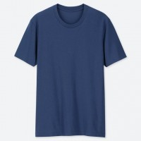 Áo thun T-shirt nam cổ tròn Uniqlo màu xanh dương