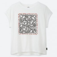Áo thun nữ cổ tròn Uniqlo Keith Haring Party of Life UT