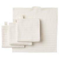 Set 4 khăn mặt IKEA Vagsjon màu trắng khổ 30x30
