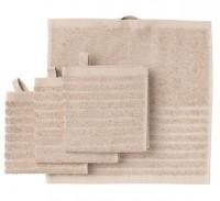 Set 4 khăn mặt IKEA Vagsjon màu beige khổ 30x30