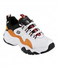 Giày thể thao nữ SKECHERS D'Lites 3 x One Piece White/Orange/Black