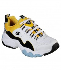 Giày thể thao nữ SKECHERS D'Lites 3 x One Piece White/Black/Blue/Yellow