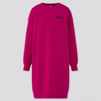 Áo đầm nữ dài Uniqlo WOMEN Urban Walls Sweat Long Sleeve Dress
