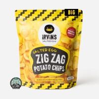 Khoai tây trứng muối Zig Zag 230g IRVINS - Big Salted Egg Zig Zag Potato Chips