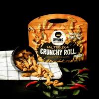 Bánh snack cuộn giòn trứng muối 120g IRVINS - Crunchy Roll